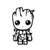 Baby Groot Aufkleber